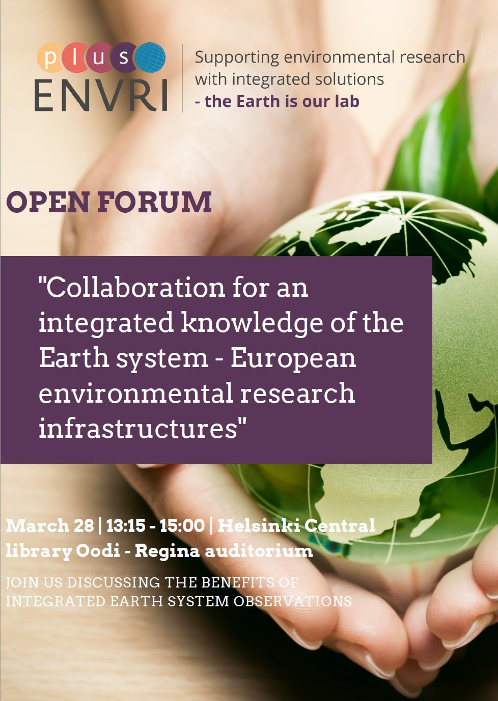 ENVRIplus_Open_Forum_invitation