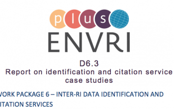 Read the ENVRIplus report on identification and citation service case studies